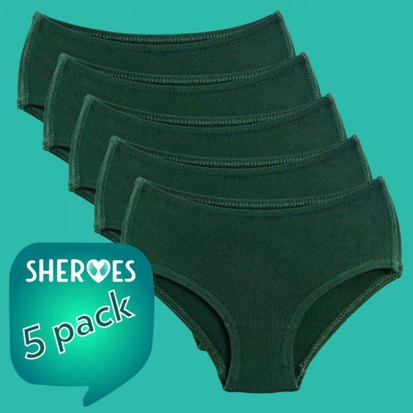 bottle-green-girls-school-underwear-5-pack
