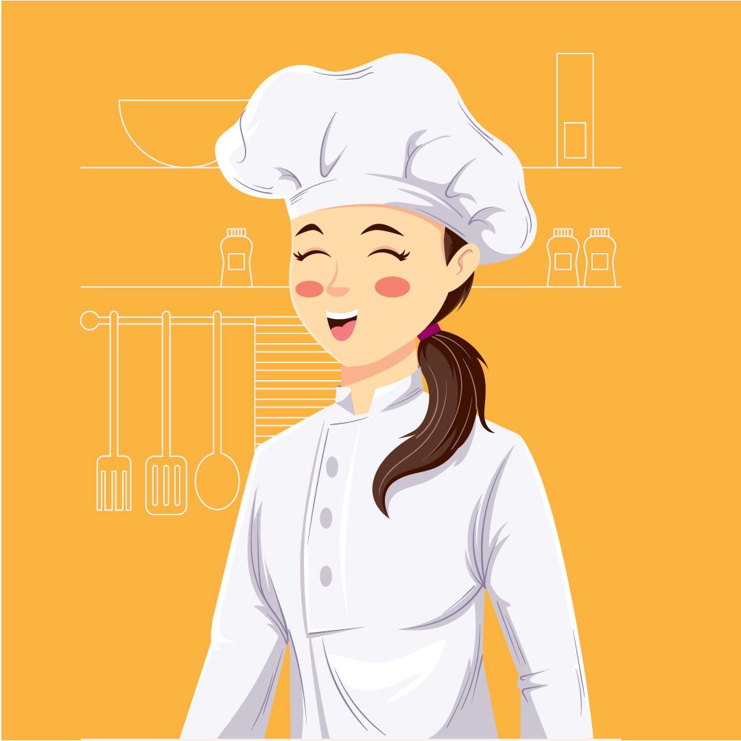 Girl-chef-vector